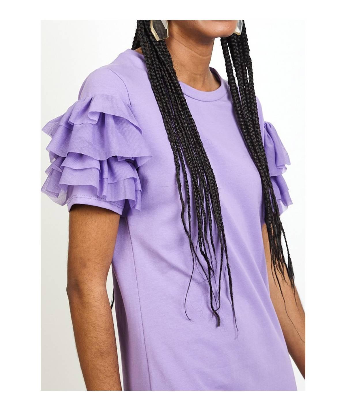 Contrast shoulder dress